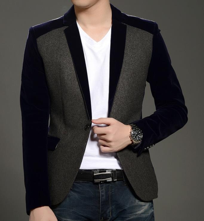 Black Velvet Coat for Men Promotion-Shop for Promotional Black