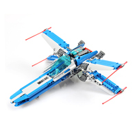 Technic Compatible LegoINGLYS Star Wars X Wing Fighter Blocks For Toddlers Clever Blocks Educational Toys For Kids 276PCS