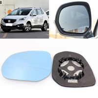 For Peugeot 3008 2013 2018 Side View Door Mirror Blue Glass With Base Heated 1 Pair