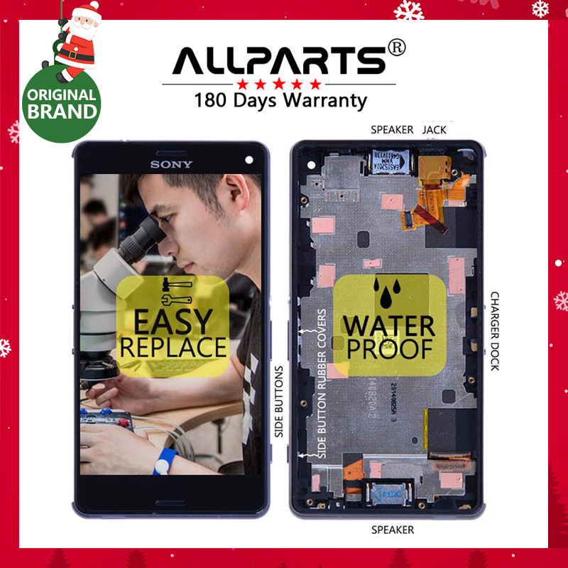 Original 4 6 1280x720 Screen For SONY Xperia Z3 Compact Display LCD Touch Screen with Frame