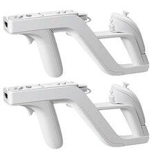 2 pièces/lot Zapper pistolet de tir détachable pour nintention Wii télécommande droite gauche Nunchuk contrôleur Joysticks Wii accessoires de jeu