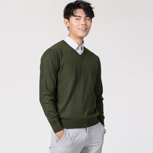 Image 2 - Man Pullovers Winter New Fashion Vneck Sweater Cashmere and Wool Knitted Jumpers Men Woolen Clothes Hot Sale Standard Male Tops