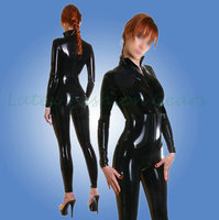 Sexy Women S Latex Catsuit Black Gummi Bodysuit Hot Sale