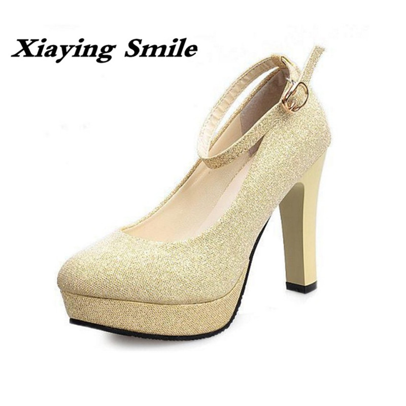 Xiaying Smile Woman Pumps Shoes Women Mary Janes British Style Fashion New Elegant Spring Square Heels Buckle Strap Rubber Shoe xiaying smile summer woman sandals fashion women pumps square cover heel buckle strap fashion casual concise student women shoes