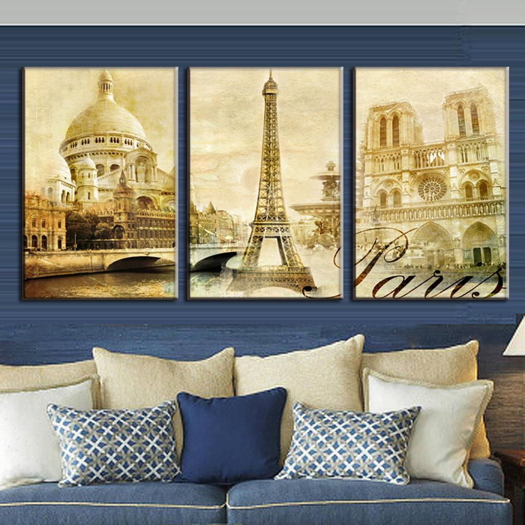 Aliexpress.com : Buy 3 Pcs/Set Framed Oil Painting On Canvas Scenic ...