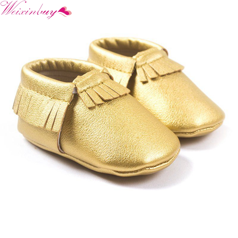 29 Colors Princess Toddler Infant Soft Sole PU Leather Shoes Tassels Baby Various Cute Moccasin M2