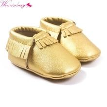 29 színek hercegnő kisgyermek csecsemő lágy nyakú PU bőrcipők baba különböző aranyos mokasin M2