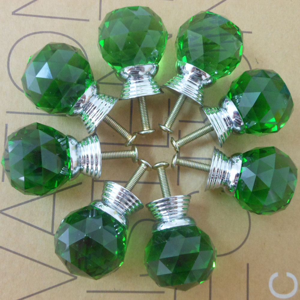 Colored glass door knobs - Tanpgna 10pcs 6 Colors 30mm K9 Crystal Glass Door Knobs Drawer Cabinet Furniture Kitchen Bin Dresser