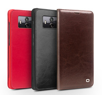 Qialino For Huawei Mate 10 9 Case Classic Genuine Leather Auto wake/sleep Card Slot Flip Cover For Huawei Mate 10 9 Pro Coque