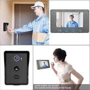 Image 5 - Saful Wired אינטרקום וידאו 7 עמיד למים מערכת נעילה אלקטרוני 220 v פעמון צג ראיית לילה בית דירה דלת טלפון
