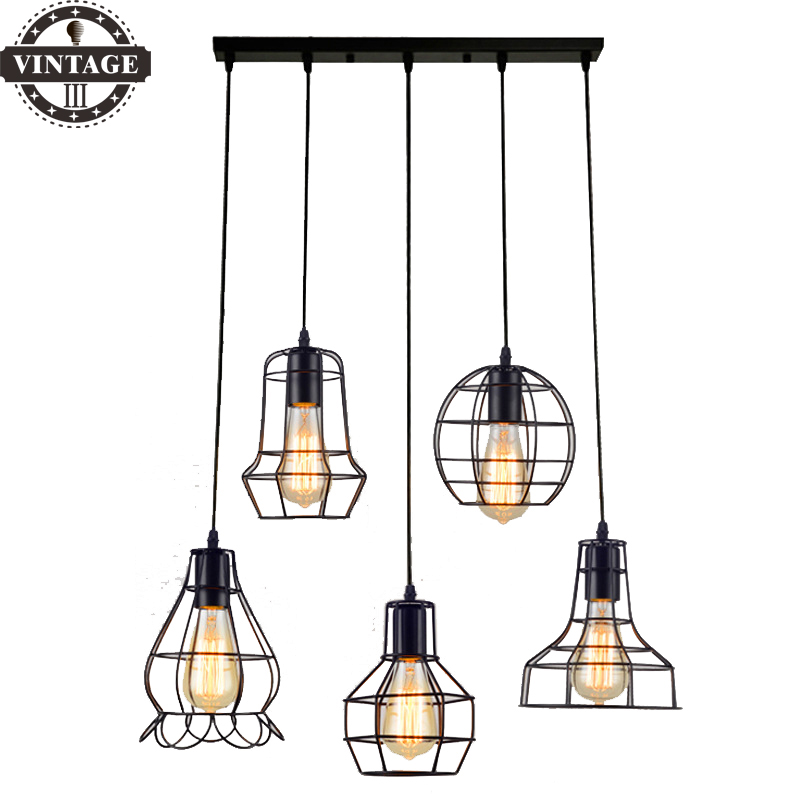 Retro Indoor Lighting Vintage Pendant Light Led Lights 24: Modern Retro Indoor LED Lights 24 Kinds Iron Lighting