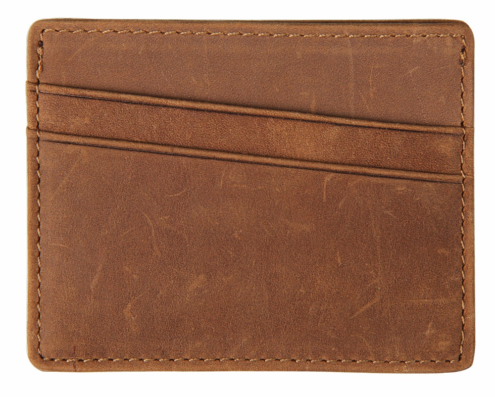 Artmi Mens Slim Card Holder RFID Minimalist Wallet Front Pocket Card Case, Brown