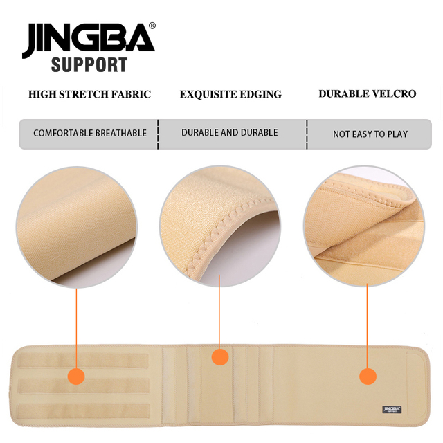 JINGBA SUPPORT Back Waist Support Waist trimmer Slim fit Abdominal Waist sweat belt Sports Safety Sports protective gear 4