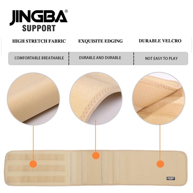 JINGBA SUPPORT fitness belt Back waist support Slim sweat belt waist trainer waist trimmer musculation abdominale Sports belt 4