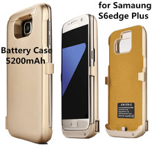 5200mAh External Battery Charger Housing Power Bank Housing for Samsung Galaxy S6 Edge Plus G9280 Mobile Power Charger Housing