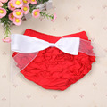 Baby Princess Baby Girl Cute Bloomers Ruffle PP Pants Shorts Bow Diaper Nappy Cover