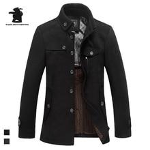Высокое Качество мужская Шерсть Пальто Модельер Stank Воротник Плюс Размер Бизнес Случайный Шерсти Пальто Для Мужчин Палто C42F1297