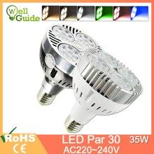 цена на LED Lamp E27 par30 35W LED Spotlight AC 220V 240V led bulb par Lampara for home lighting Cold Warm White Red Green Blue Lampara