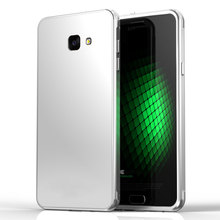 Luxury Metal Aluminum Frame +Tempered Gorilla Glass Back Case For Samsung Galaxy S7/S7 Edge/A9/A7 A7100 + Free Protector Film