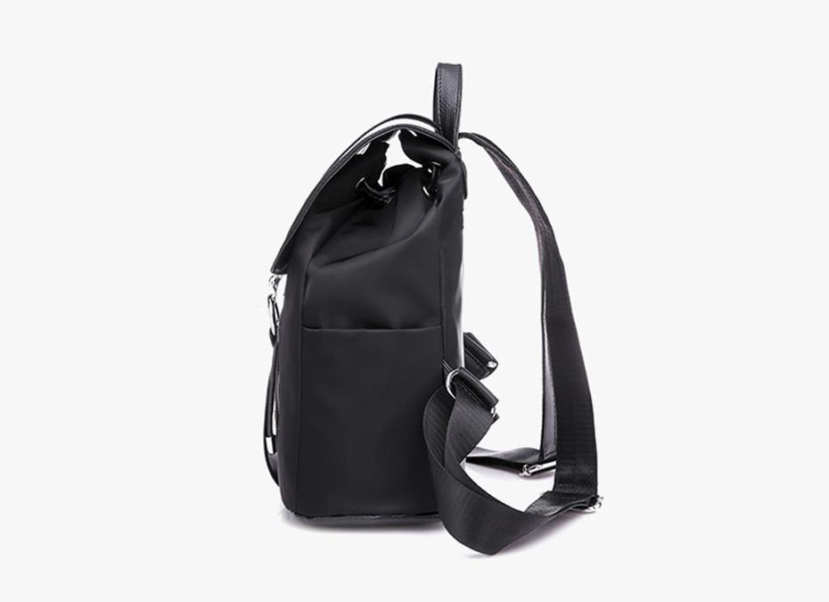 HTB1cUZbJ25TBuNjSspcq6znGFXaB Women Backpack School Bags For Teenager Girls Nylon Zipper Lock Design Black Femme Mochila Female Backpack Fashion Sac A Dos