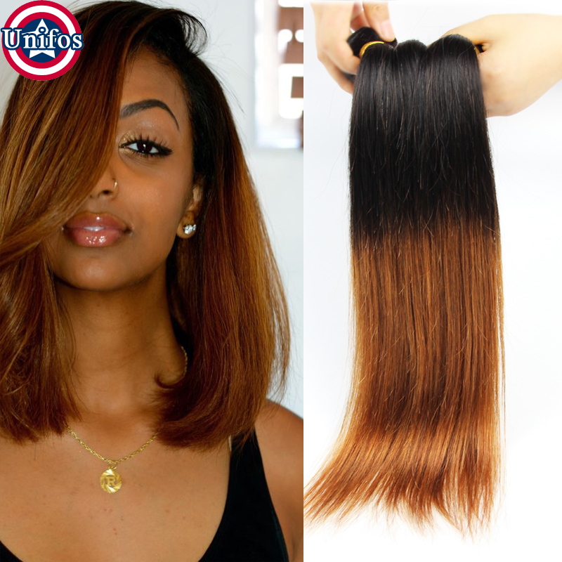 Peruvian Ombre Hair Straight 4 Bundles Ombre Blonde Human Hair