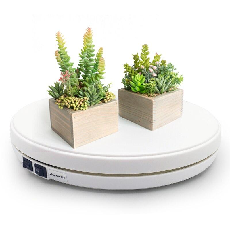 Белый 25 см светодиодный фото 360 градусов вращающийся стол с электрическим приводом Вращающийся дисплей Стенд для фотографии ювелирные часы