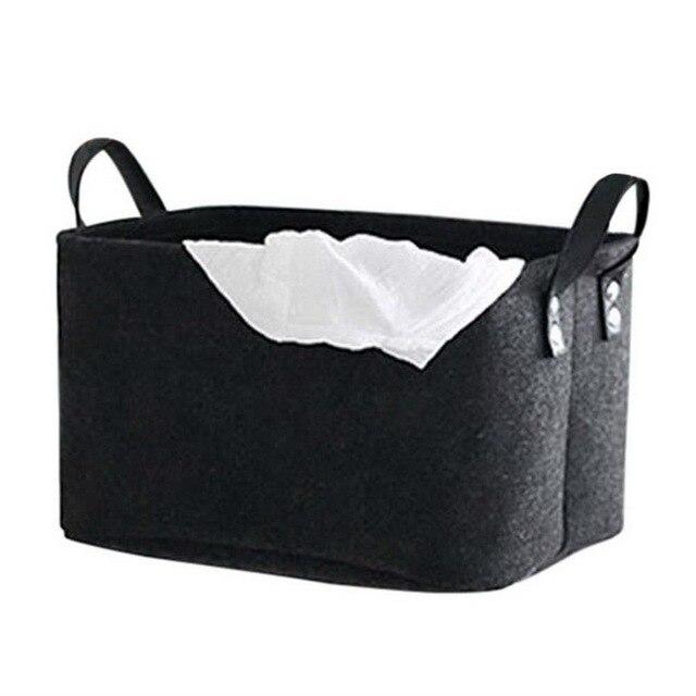 Hoomall Portable Handle Cabinet Cloth Collection Basket Toys Large Capacity Makeup Organizer Desktop Debris Storage Basket