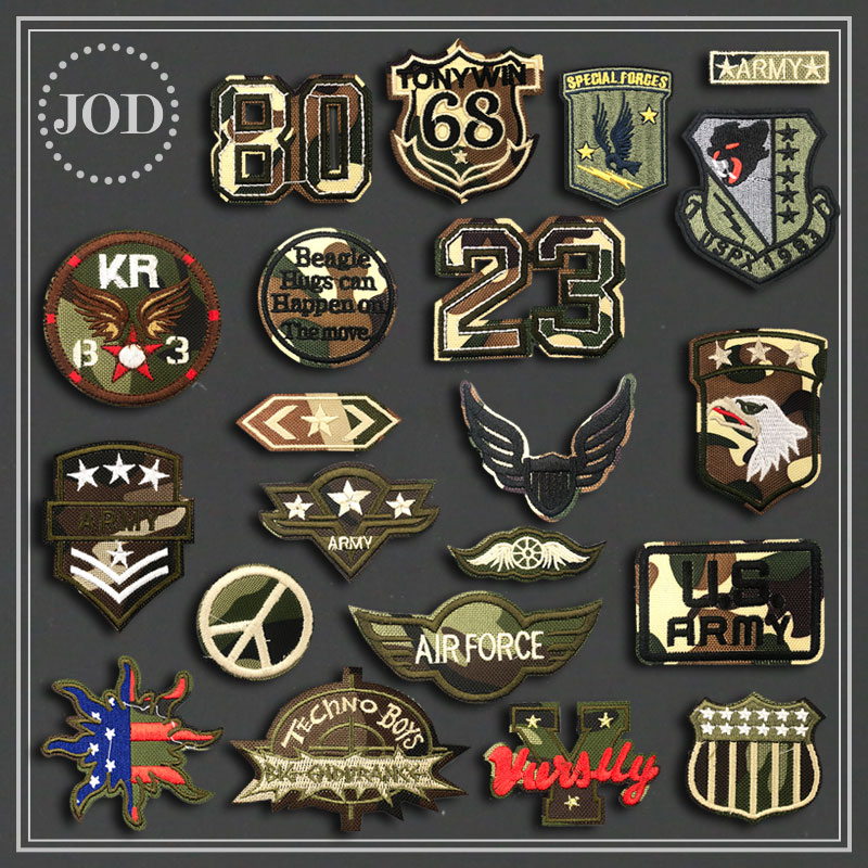 Tactical Army Military Iron on Patches for Clothing Embroidery Clothes Patch Sew on Applications Stickers Camouflage Badges KR broad paracord