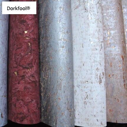 Bacaz Corée Art Texture or ou Argent feuille Écorce Liège rouleaux de papier peint pour TV Canapé Fond Naturel Bois décor mural en papier