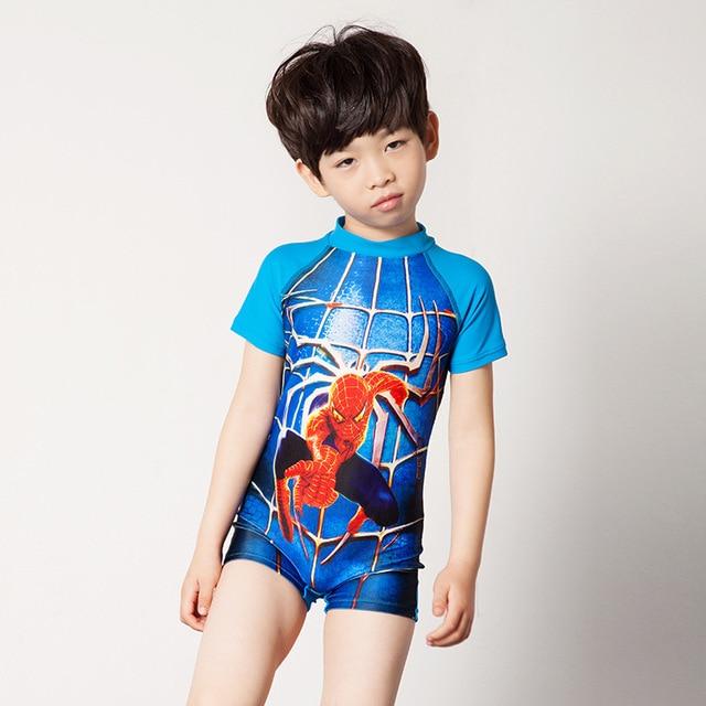 Мультфильм дети купальники мальчики купальный костюм симпатичные человек-паук chidlren купальники мальчиков купальники бесплатная доставка
