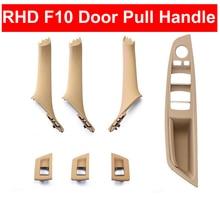 1 Set Right Hand Drive RHD For BMW 5 series F10 F11 520 525 Gray Beige Black Car Interior Door Handle Inner Panel Pull Trim