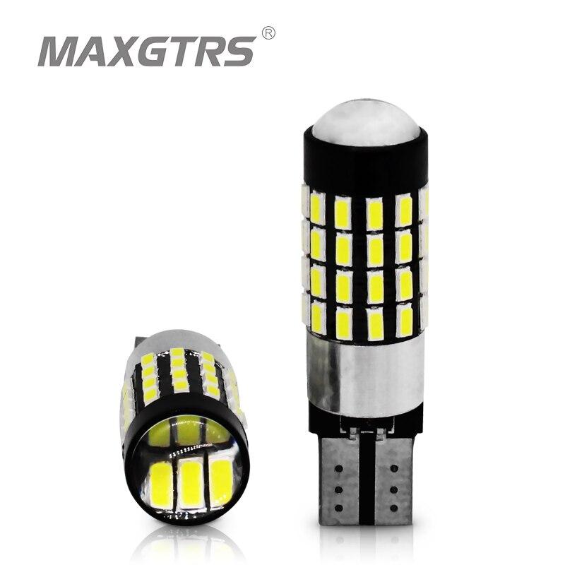 2x de alta potência t10 194 920 912 921 168 led canbus extrema brilhante 54 smd 3014 chip bulbos estacionamento backup reverso luzes largas