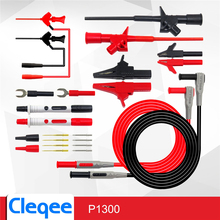HOT Cleqee P1300D P1300E P1300F Replaceable Multimeter Probe Test Hook&Test Lead kits 4mm Banana Plug Alligator Clip Test stick
