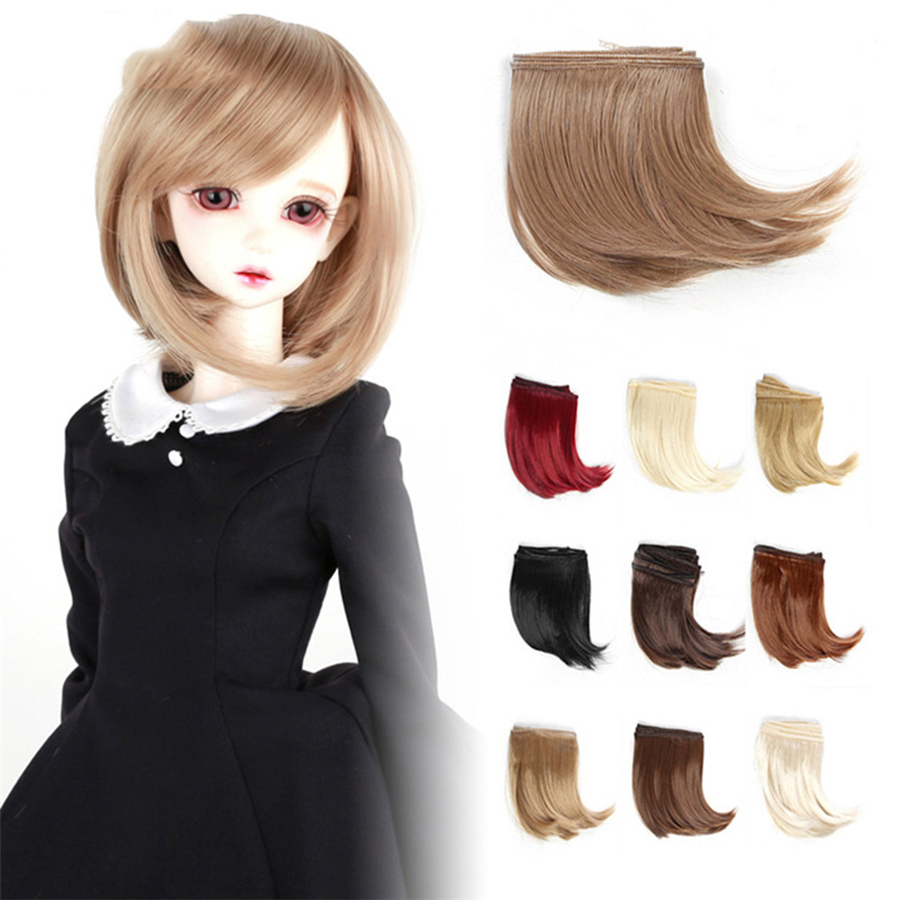 1piece 10cm Black Gold Brown Khaki White Grey Color Long Curly High Temperature Hair Doll Hair For 1 3 1 4 BJD Doll Diy Hair in Dolls Accessories from Toys Hobbies