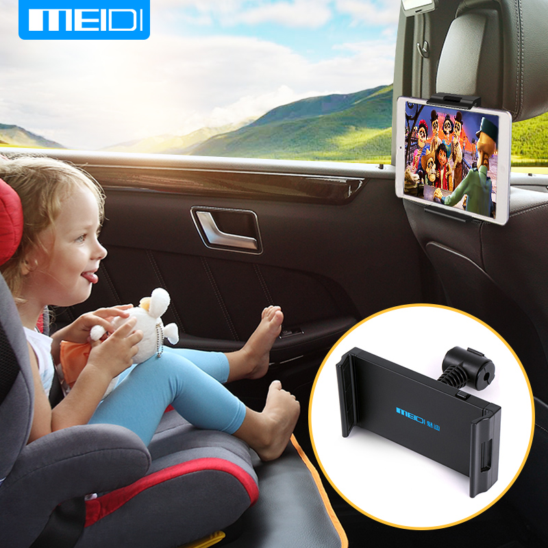 MEIDI Car Tablet Phone Holder Seat Ajustable iPad Stand Car Phone Holder For Headrest 360 Rotation Mobile Phone Mount Holder