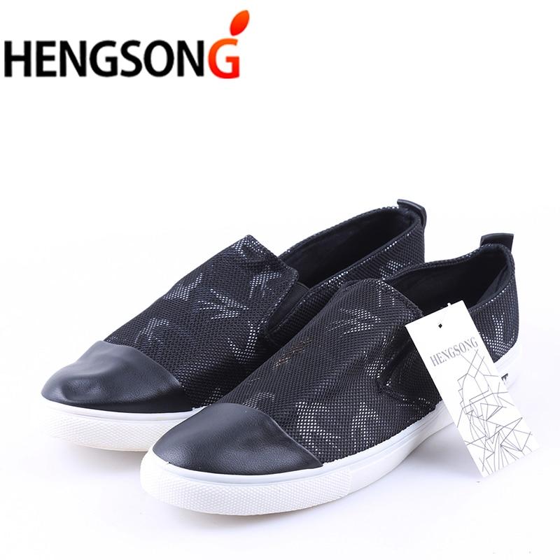 Mocassins on Patchwork Hommes white Décontractées Printemps Black Plates 2018 Toile Chaussures Respirant Grande De Nouveau Slip Maille Taille Blanc 44 wBBq7E
