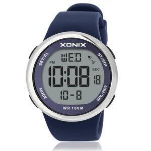 Image 3 - אופנה גברים ספורט שעונים עמיד למים 100m חיצוני כיף Hardlex מראה Sumergible דיגיטלי שעון שחייה שעוני יד Reloj Hombre