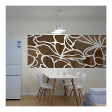 Silver Color Sticker Geometry Pattern Large Creative Wall Decals Acrylic Mirror Stickers for Kids Rooms Living Room Decor