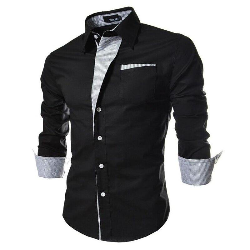 2019 New Cotton Brand Long Sleeve Shirts Social Male Slim Fit Striped Shirts Mens Dress Shirts Clothing Formal Shirts Tops123