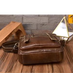 Image 5 - אופנה רטרו עור פרה עור תיק זכר אנכי עסקי עור אמיתי תיק זכר טוטס תיק תיק כתף שליח תיק