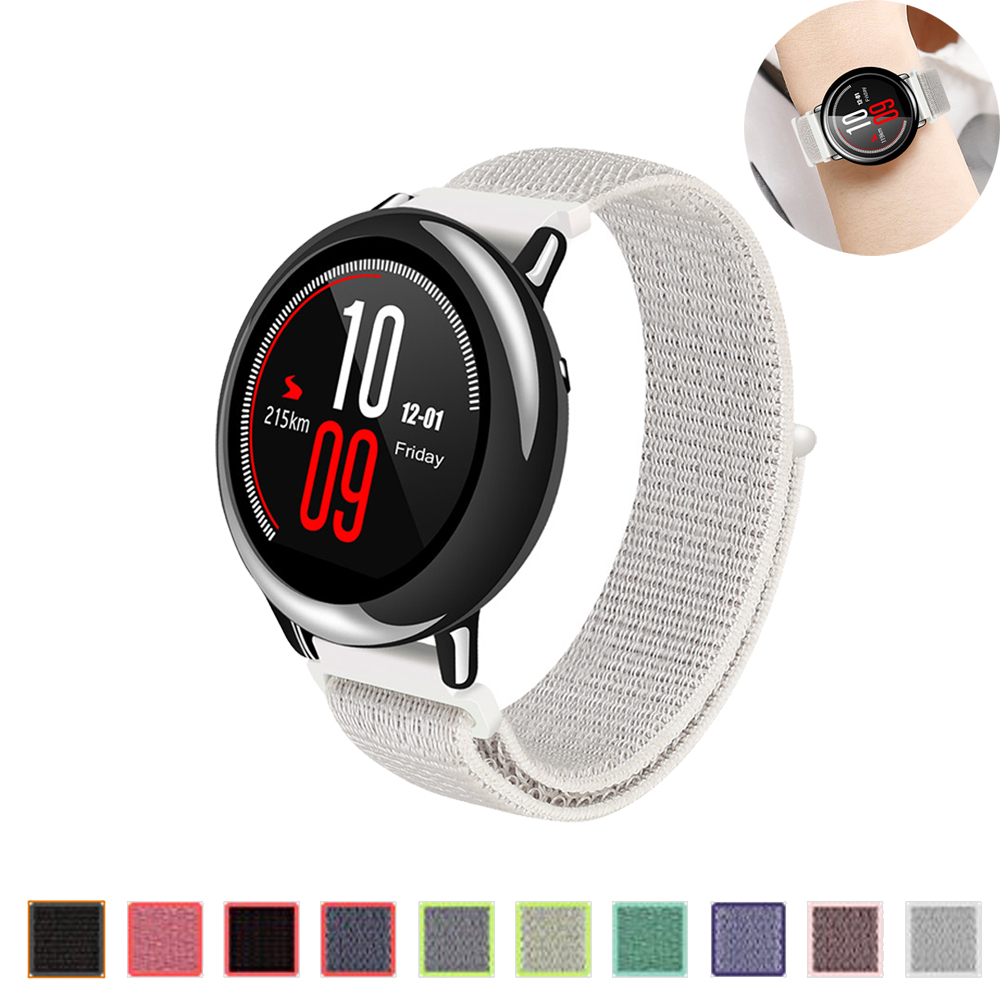 22mm Sport loop bracelet for Samsung gear S3 frontier/classic strap nylon loop band for Huami Amazfit Pace/Stratos 2/1 22mm genuine leather watch strap for samsung gear s3 classic frontier band for samsung r760 r770 huami amazfit pace stratos 2 1