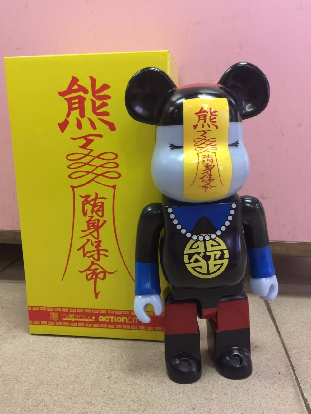 New 28CM BEARBRICK 400% HORROR JIANG SHI GLOW Fashion Toy PVC Action Figure Collectible Model Toy Decoration new hot christmas gift 21inch 52cm bearbrick be rbrick fashion toy pvc action figure collectible model toy decoration
