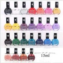 1pcs 25 Colors UV Nail Polish Gel For Nail Art Stamping Print 10ML color Special nail polish painted oil printing