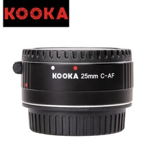 KOOKA KK-C25A 25mm Aluminum Macro AF Extension Tube Close-up Image with TTL Exposure for Canon EF DSLR Cameras (25mm)