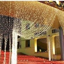 10 м* 8 м занавески Рождественские огни 2600 светодиодные огни Рождественские орнаменты светящиеся цветные сказочные свадебные декорации 9 цветов