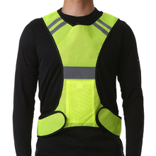 High Visibility Night Safety Vest Outdoor Sports Breathable Mesh Reflective Vest with Pocket for Running Cycling Jogging Walking цена