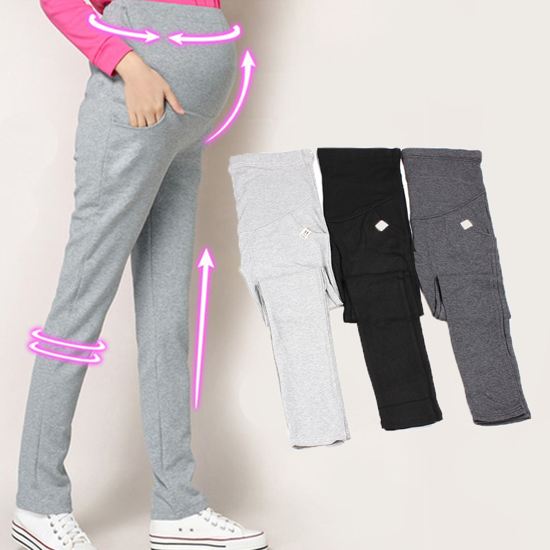 Autumn Leisure Maternity Pants Elastic Waist Belly Casual Trousers Clothes For Pregnant Women Pregnancy Stretch Cotton Pants