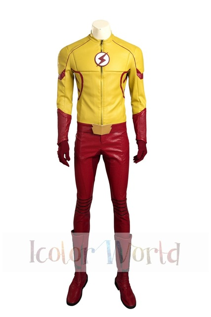 El Flash TEMPORADA 3 disfraz de Cosplay de Flash para niños en ... d33f0f64ae1