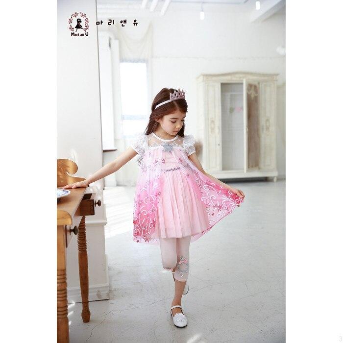 Vajzat Fustan 2019 Dantella Verore Temperatura Elsa Princesha Veshjet - Veshje për fëmijë - Foto 5