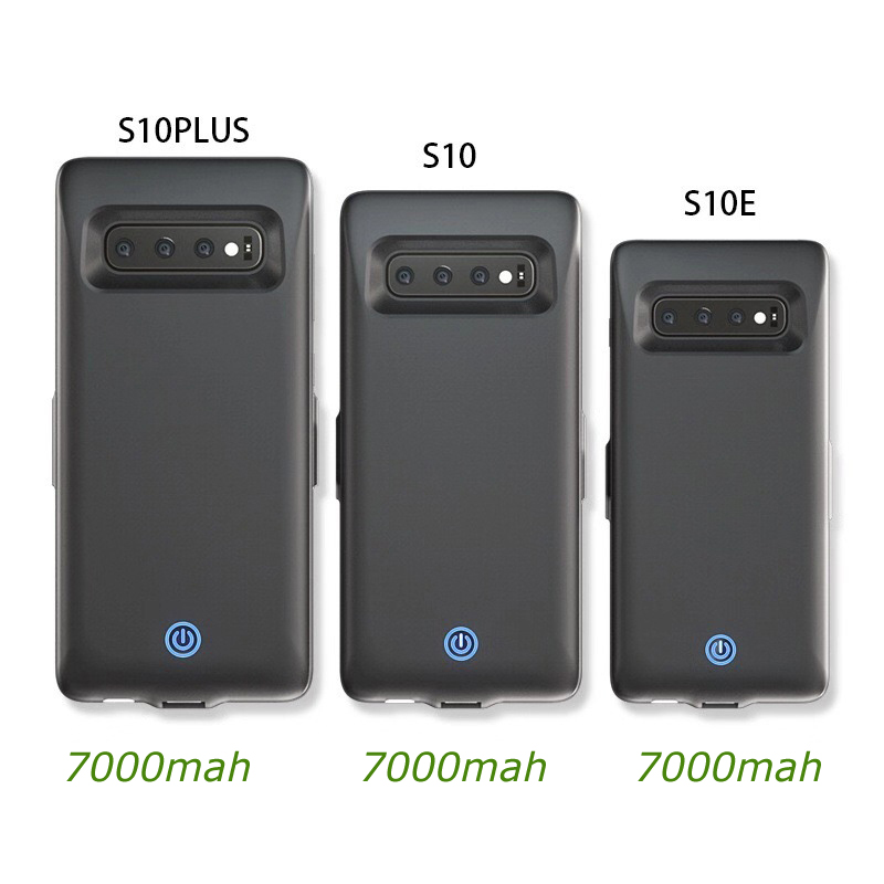 Battery Charger Case voor Samsung Galaxy S10 S10e batterij case voor Samsung S10 Plus 7000mah Back Clip Fast Charger cover Zwart